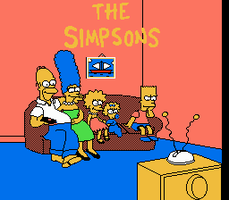 The Simpsons Improved Title Screen by retrogamer406