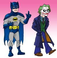 Adam West catches Heath Ledger by memorypalace