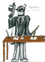 Skeleton Lawyer Man by Gref313