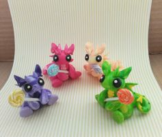 Lollipop Dragons by KriannaCrafts
