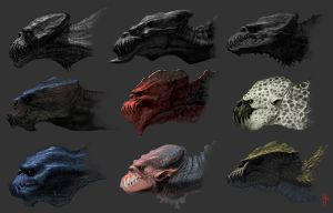 Creature Heads by MrTomLong