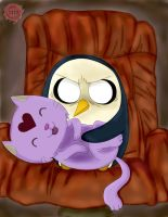 Adventure Time - Gunter The Evil and Kitten by ChristianStrange3