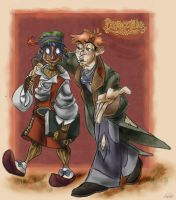 Pinocchio and Lampwick by D00Mk1tty14