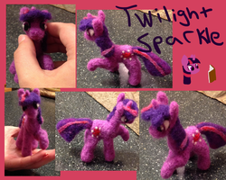 Twilight Sparkle Needle Felt by the-pink-dragon