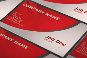 Free Abstract Red Business Card Template by BorceMarkoski