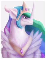 Princess Celestia Dragon by Essence-Of-Rapture