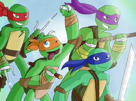 Tmnt2012 Wallpaper by SugarUP