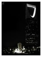 Kingdom Tower at Night by nyl