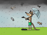 Raining cat's and dog's? by LupusNic