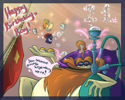 Happy 21st birthday to Rayman by Illegal-D