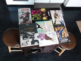 Butcher Block Table of Comics by SirDNA109