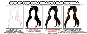 Semi-Realism Hair Tutorial (SAI) by JassyCoCo