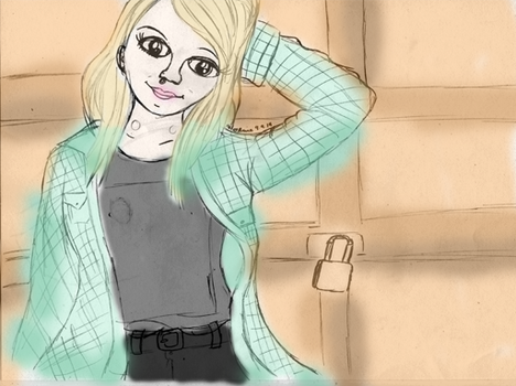 Jenna from Tonight Alive (Coloured) by Animecolourful