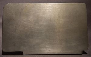 Scratched metal plate by gargamelix