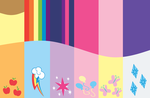 Mane 6 Background #2 by DeviantDalton