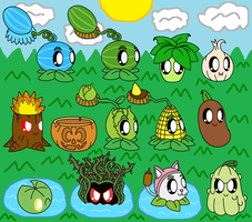 Plants Vs Zombies Cute Plants Part 4 by pokemonlpsfan