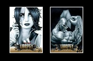 Liberty CBLDF sketch cards II by AstroVisionary