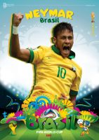 NEYMAR WORLD CUP 2014 POSTER by asendos