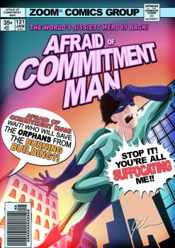 Afraid of Commitment Man by ZoomToons