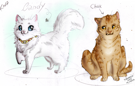 Candy and Chuk by FuriarossaAndMimma