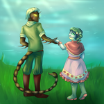 The Scorpion and the frog by Moferiah