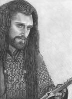 Thorin Oakenshield- The Exiled King by badlilmunkee