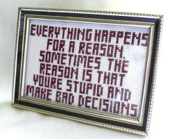The truth, cross stitched. by agorby00