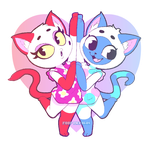 Mitzi and Olivia by Foop-McFawn