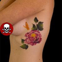 Peone Flower Tattoo by Origam-e