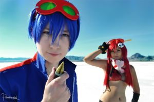 Gurren Lagann - Simon and Yoko Littner by Zekkeyen