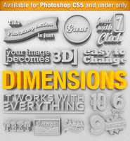 Dimensions - 3D Generator Action by freebiespsd