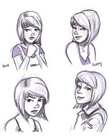 Some of Laelen's Moods by AniseShaw