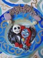 Nightmare before christmas cammeo: jack and Sally by mondoinundito