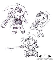 Guilty Gear Chibis by EllieVyle