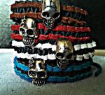 colored leather bracelets by ColdShower42