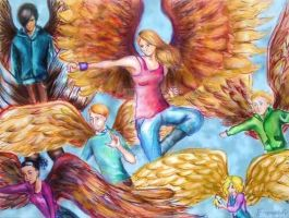 Maximum Ride-the flock by Greenticky