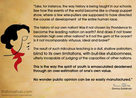 Emma Goldman on nationalist indoctrination.. by rationalhub