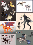giant page of adopts [open] by Callosyx