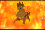 The wolf who isn't afraid of fire by KillerSandy
