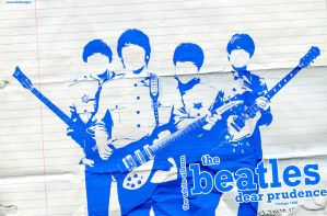 The Beatles Blue Wallpaper by Angelmaker666