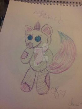 Evil Fox Plushie (for adopting c:  by zombiedragonqueen14