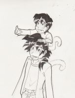 Goten and Gohan for Tal by ImmortalAlchemist