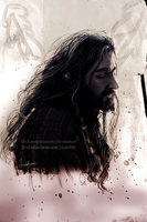 Mixed Media - Thorin by LindaMarieAnson