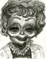 Caricature of an older Lucille Ball by Caricature80