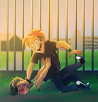 Young riddler and music meister ruff play by pink-ninja