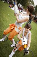 Chell Cosplay by Knorke-chan