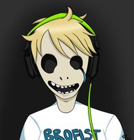 White Pewdie Face by SpookyScreamz