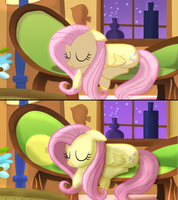 Fluttershy - 1 year difference by ikillyou121