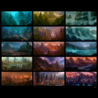 Environment Sketches v2 by sancient