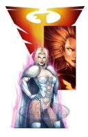 White Queen Dark Phoenix Color Print by tonyperna